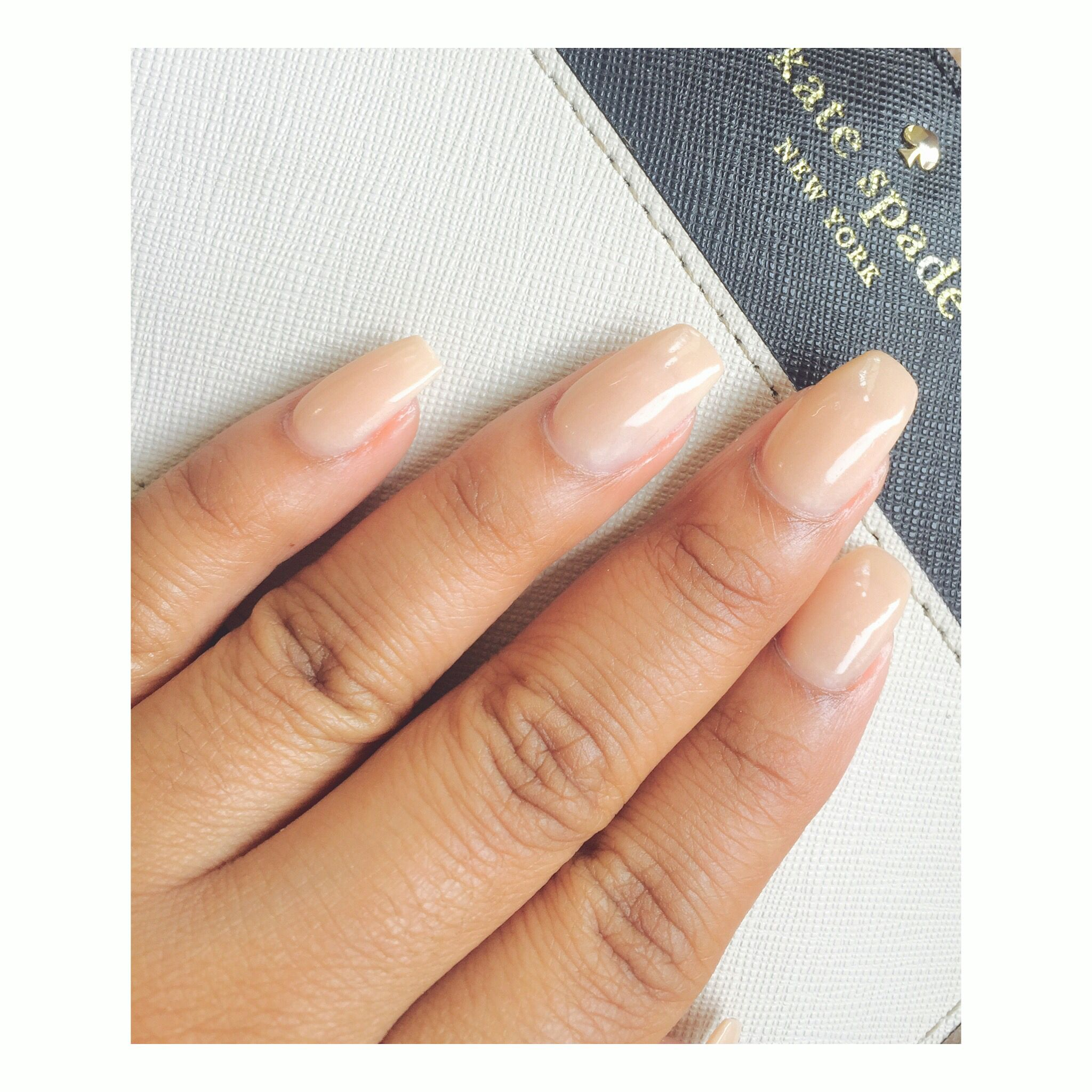 Coffin nails. Nude nails. SNS N8 | Glam Nails | Pinterest | Coffin ...
