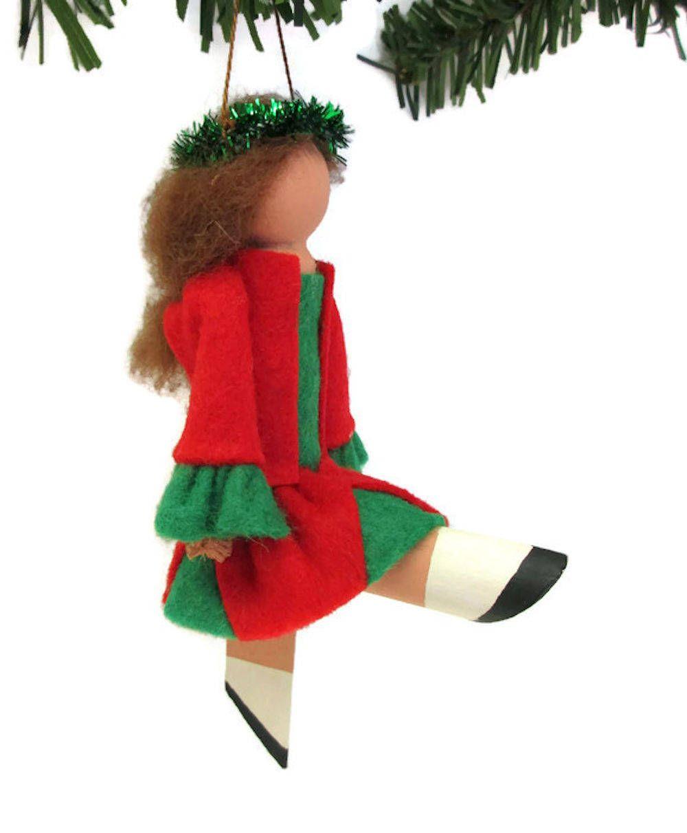 Irish Dancer Christmas Ornament, Clothespin Ornament, Peg Doll ...