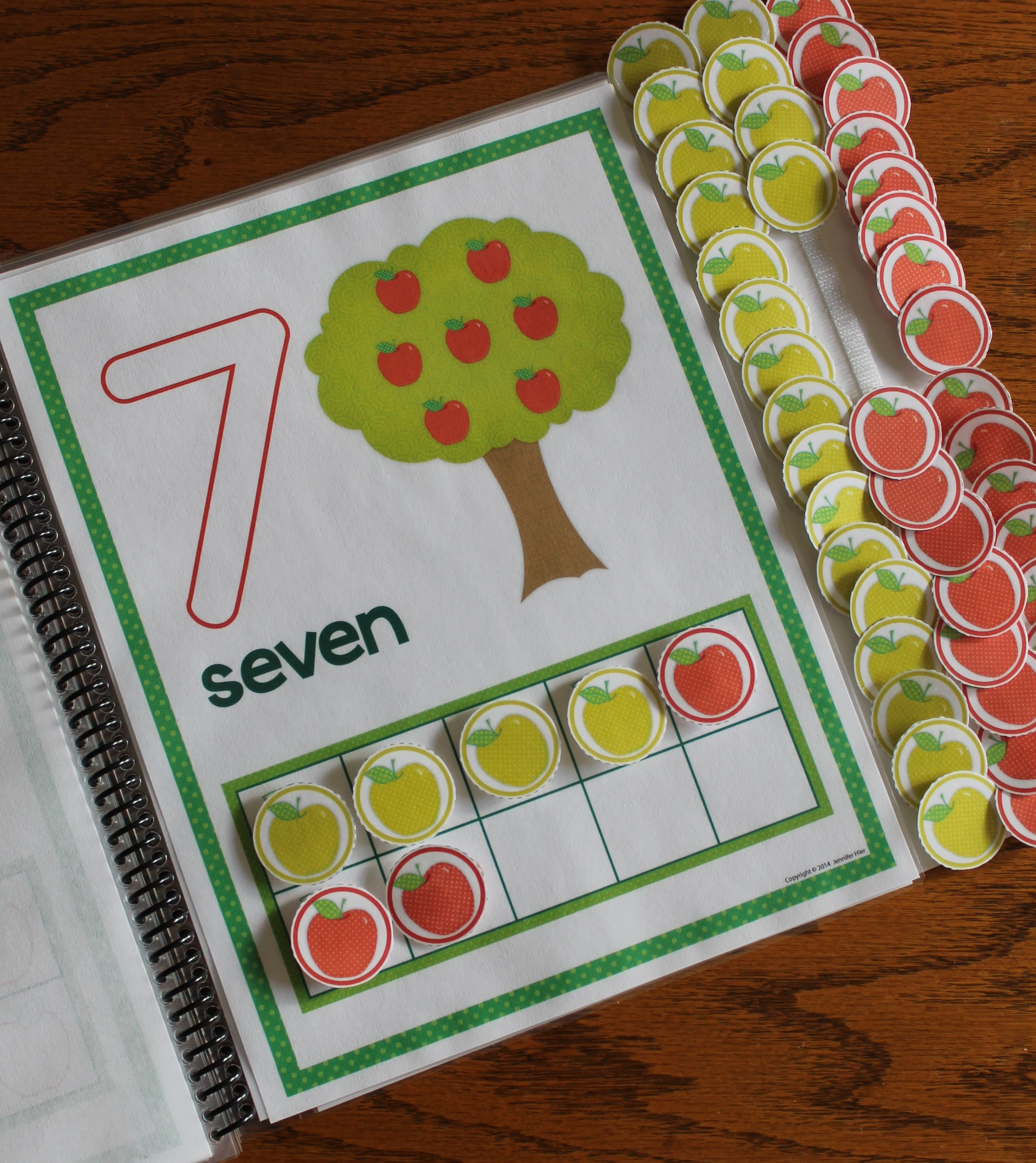 Apples Number Mats 0 10 Play Dough Counting Mats And Interactive Counting Book
