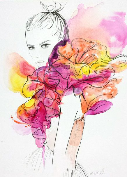 5 Must Follow Fashion Illustrators On Instagram Fashion Illustration Watercolor Fashion Art Illustration Watercolor Fashion