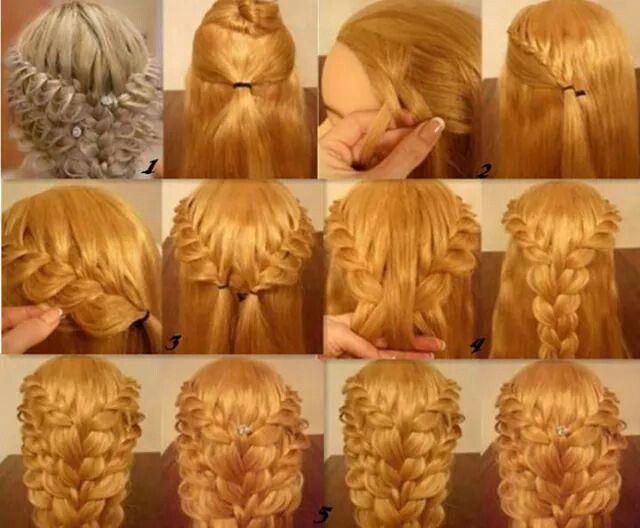 Pleated braid hairstyle