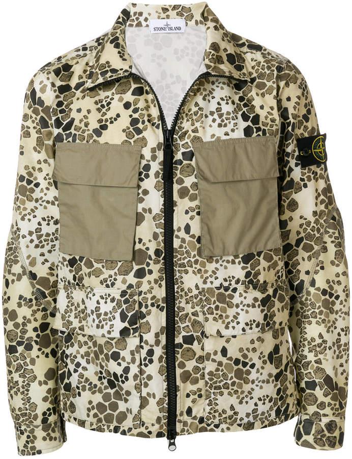 01e69f7be084b Stone Island alligator camouflage print jacket | FUZHUANG | Print ...