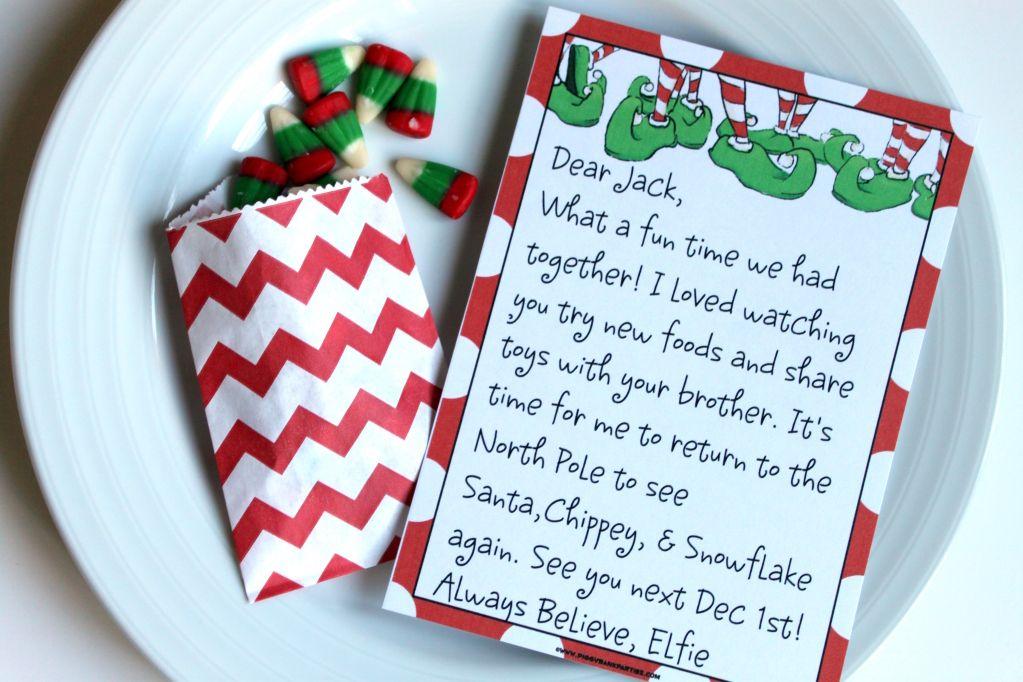 Editable goodbye letter from the Elf on the Shelf Elf
