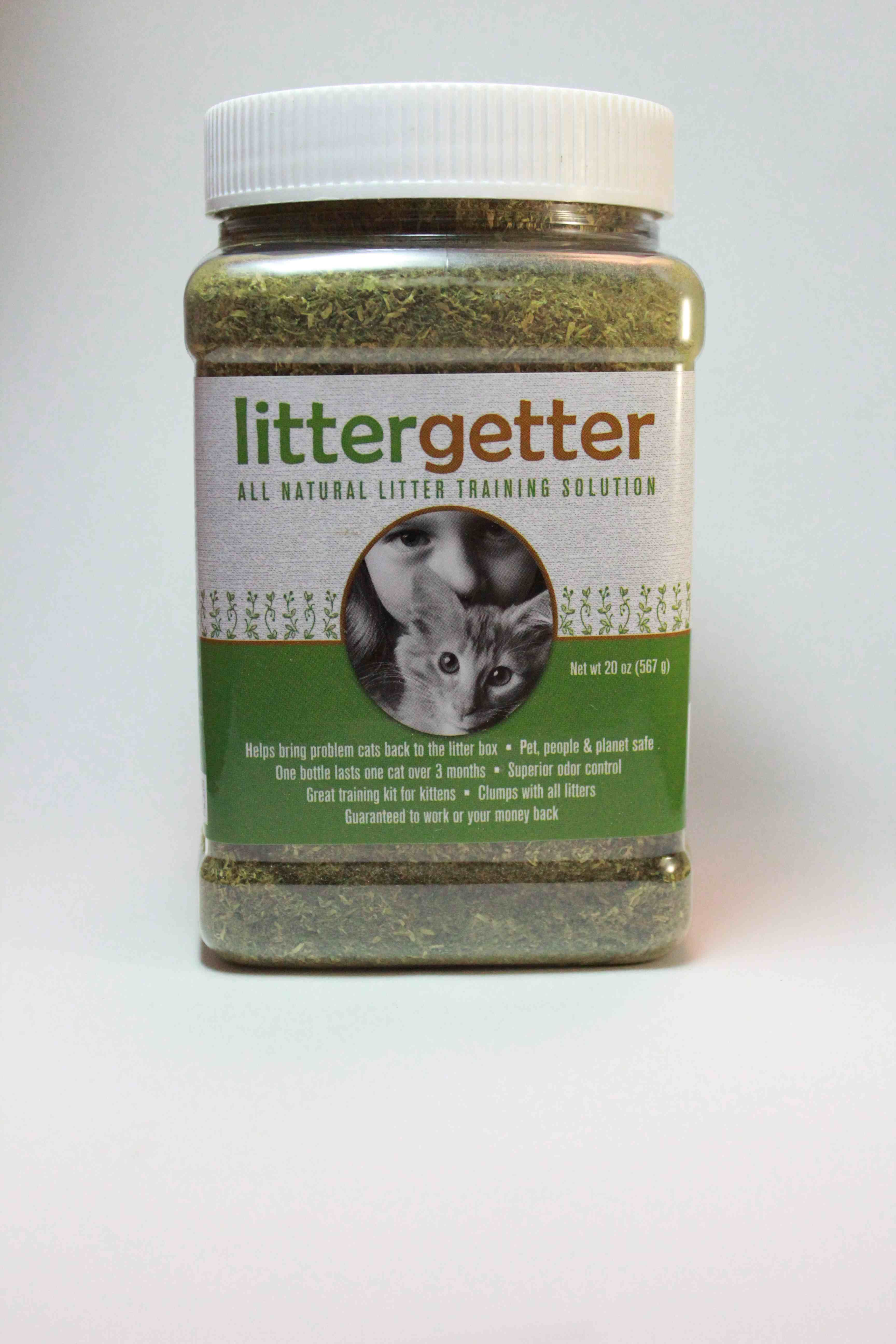 Litter Getter is an allnatural mixture of herbs and plant