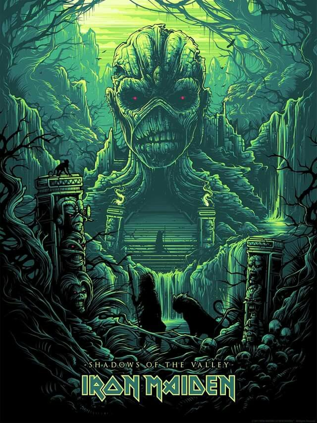 Iron Maiden Shadows Of The Valley Posters Iron Maiden Musica