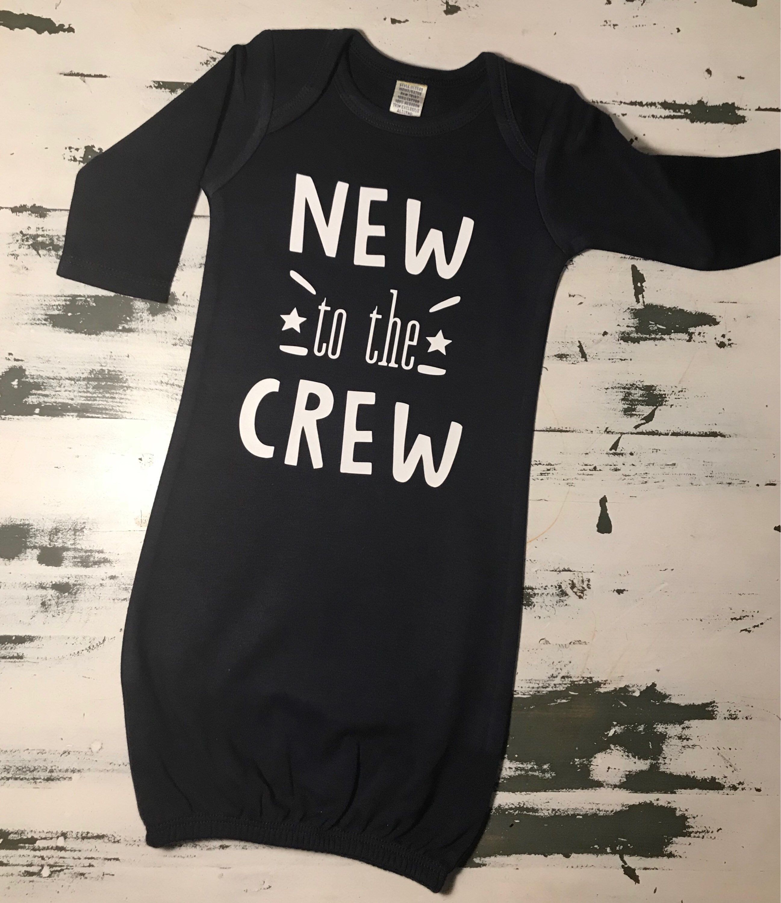 New To The Crew, New To The Crew Baby Gown, Baby Boys Take Home ...