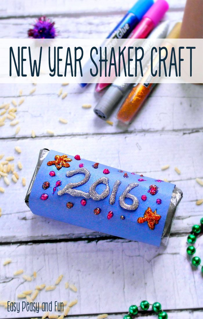 New Year S Eve Rice Shaker Craft Winter Holidays Crafts For Kids