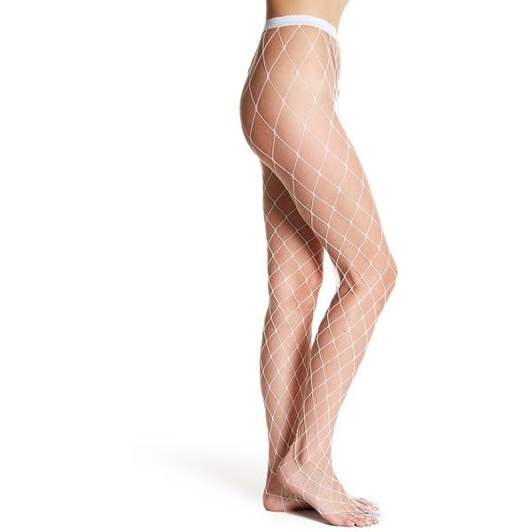 82db12f4cbc5d WOLFORD Kaylee Fishnet Tights ($20) ❤ liked on Polyvore featuring  intimates, hosiery, tights, white, wolford hosiery, fishnet pantyhose, high  waisted ...