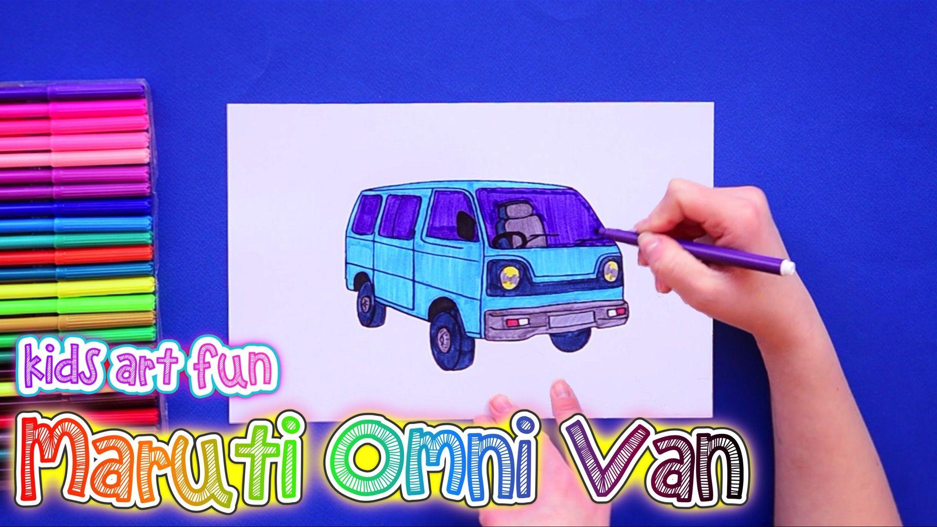 How To Draw And Color Maruti Omni Van Car Drawings Drawings Car