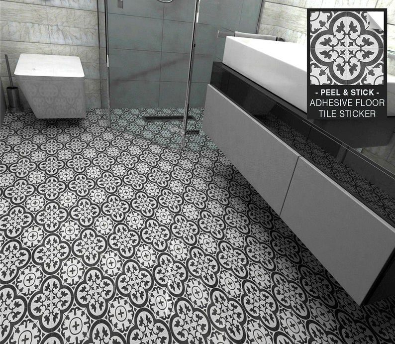 Moroccan Tiles Floor Tile Sticker Tile Decal Floor Tiles Etsy In 2020 Tile Floor Tile Decals Traditional Tile