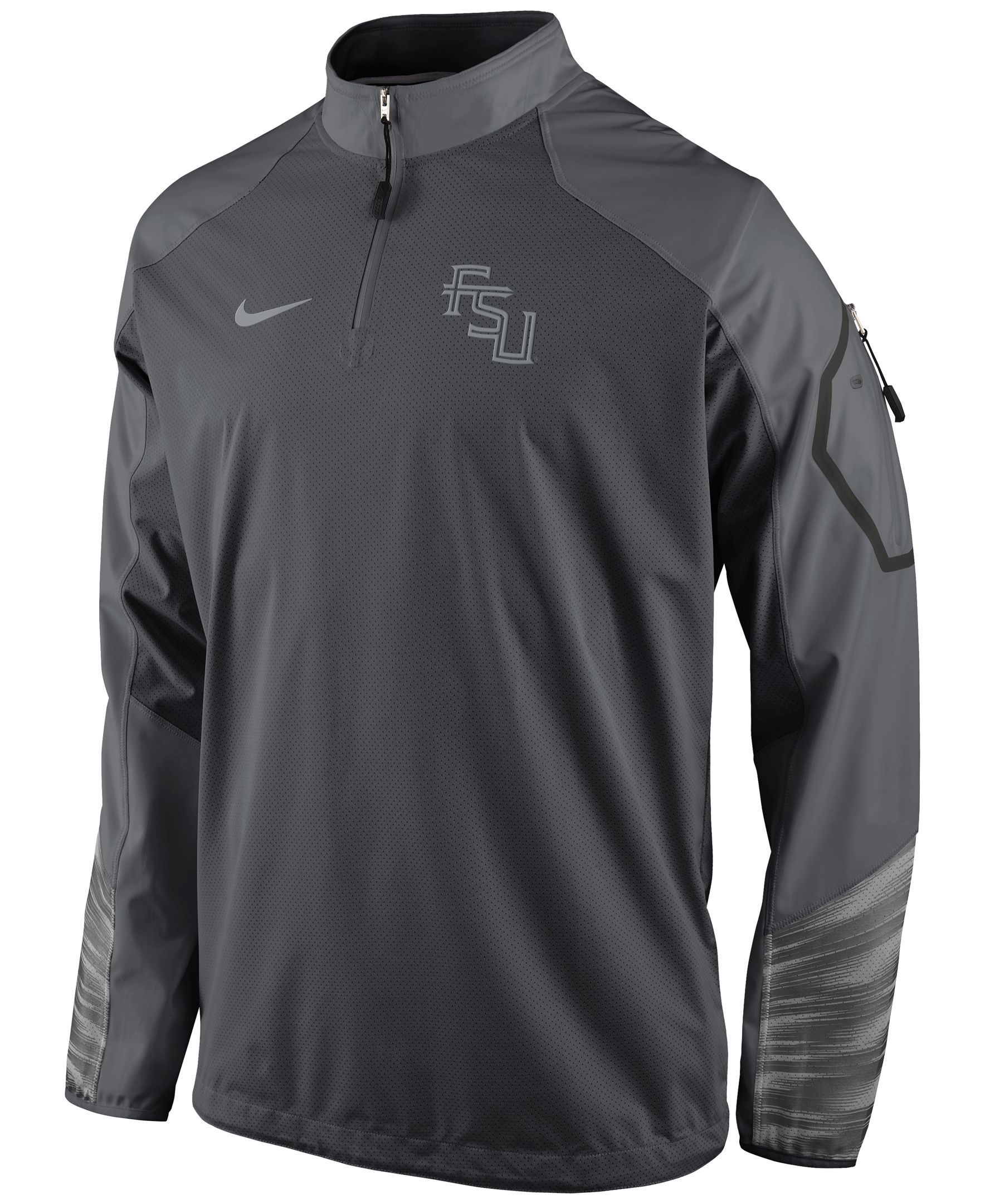 Nike Men's Florida State Seminoles Fly Rush Quarter-Zip Pullover