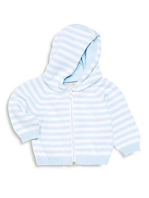 81d0e32cc3f0 Kissy Kissy Baby s Striped Zip-Front Hoodie