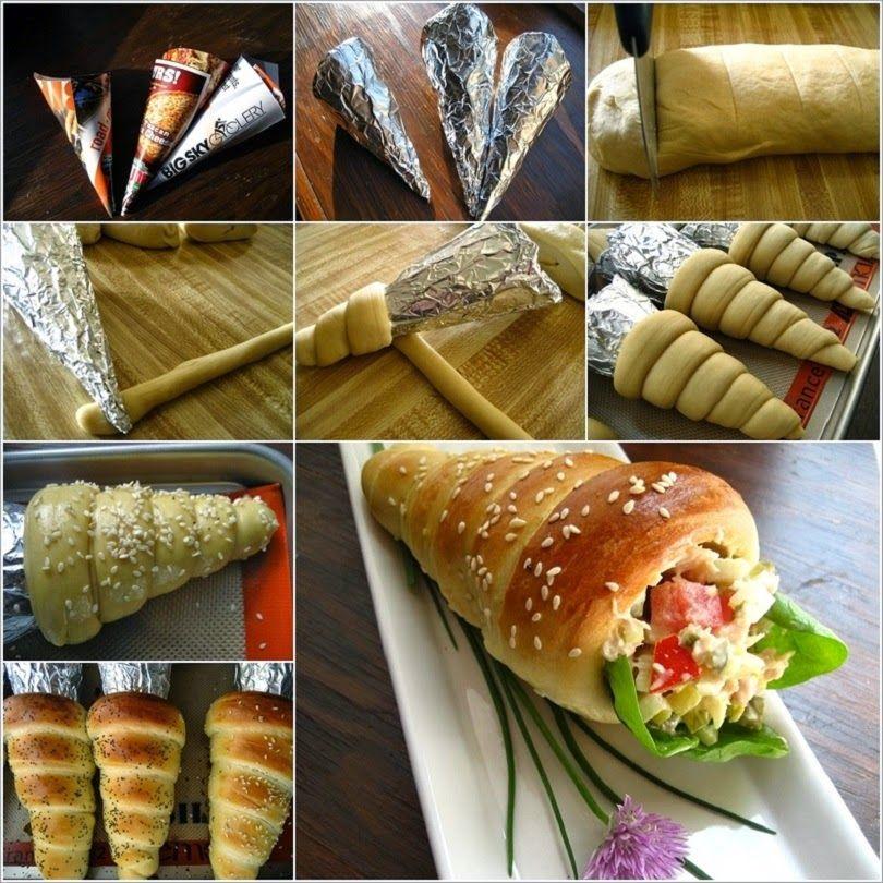 Delicious Bread Cones