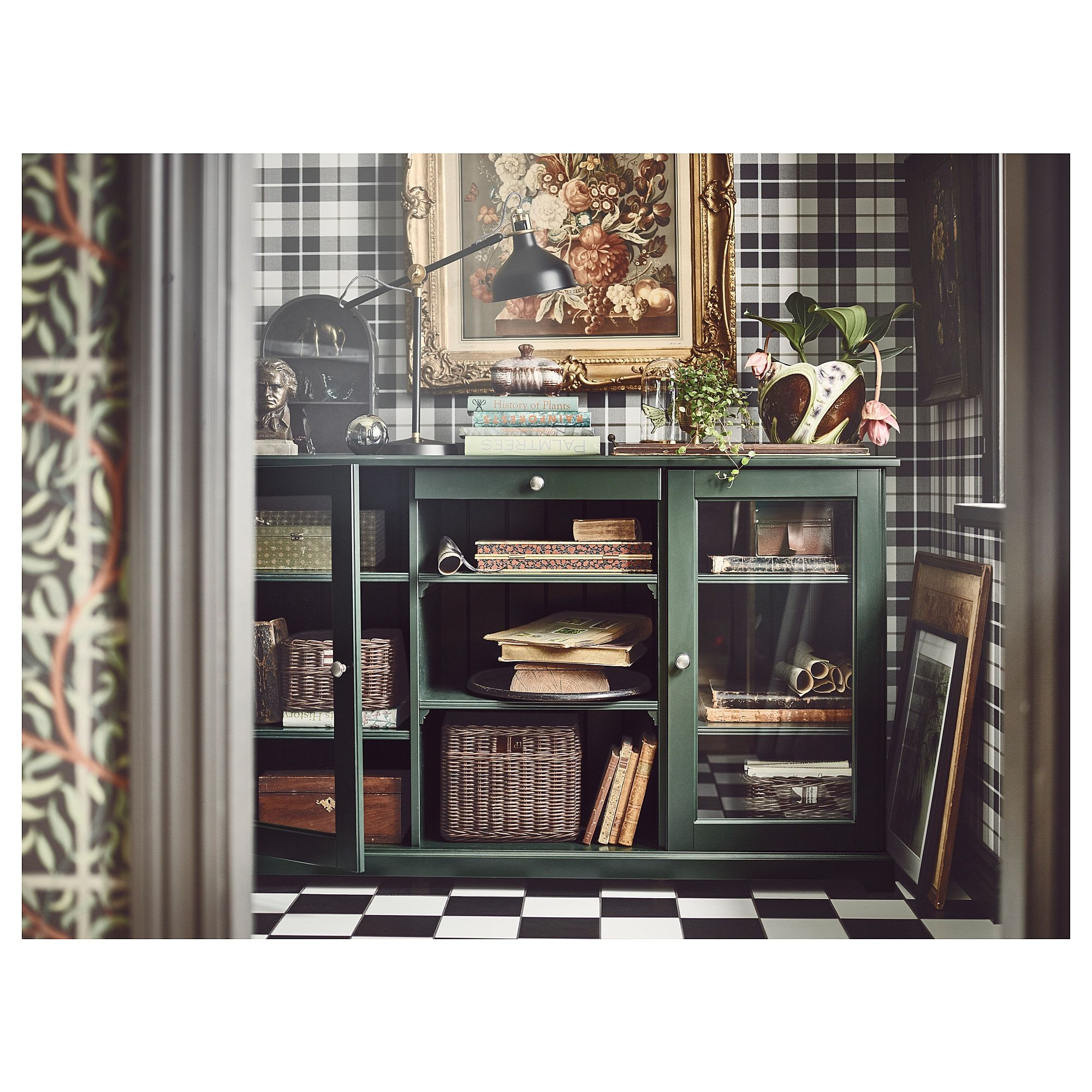 Buffet Pas Cher Ikea Liatorp Sideboard Dark Olive Green In 2019 Home Int Liatorp
