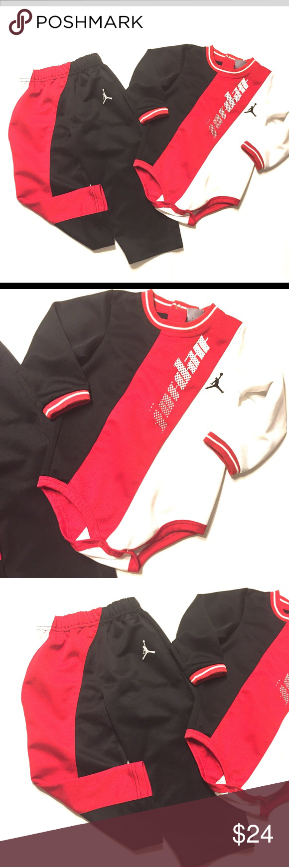 74eb15365fbe9e ••Jordan•• Two piece outfit Michael JORDAN two piece outfit. Size 24 months  in excellent used condition. Jordan Matching Sets