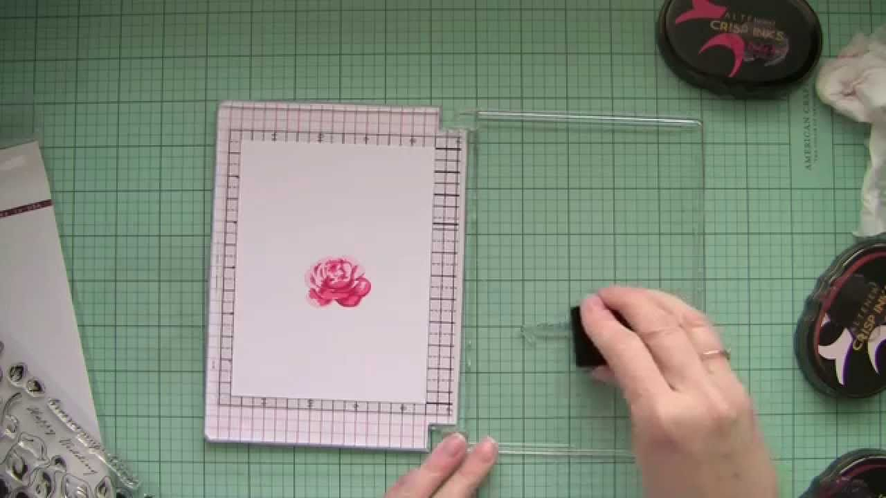 Rubber stamps for crafting - How To Make Your Own Stamping Tool Stamp Positioner Used With Altenew