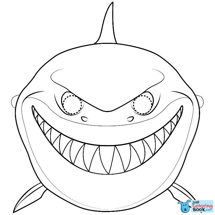 Shark mask coloring page free printable coloring pages
