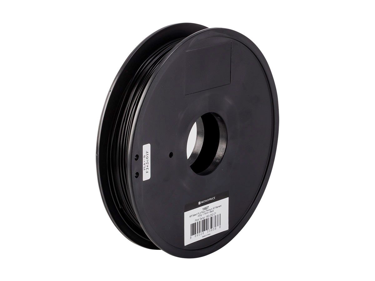 Get outstanding 3D printing results when you use 1.75mm PLA Plus+ 3D Printer Filament from Monoprice!PLA Plus+ is a good choice for a printing material if you are looking for high accuracy and high resolution. It does not require a heated base and has a very low shrinkage rate (0.3%). PLA Plus+ is stronger than ordinary PLA, possessing the same strength as normal ABS material. Additionally, PLA Plus+ is a plant-based plastic, which means that it is biodegradable and gives off a slightly…