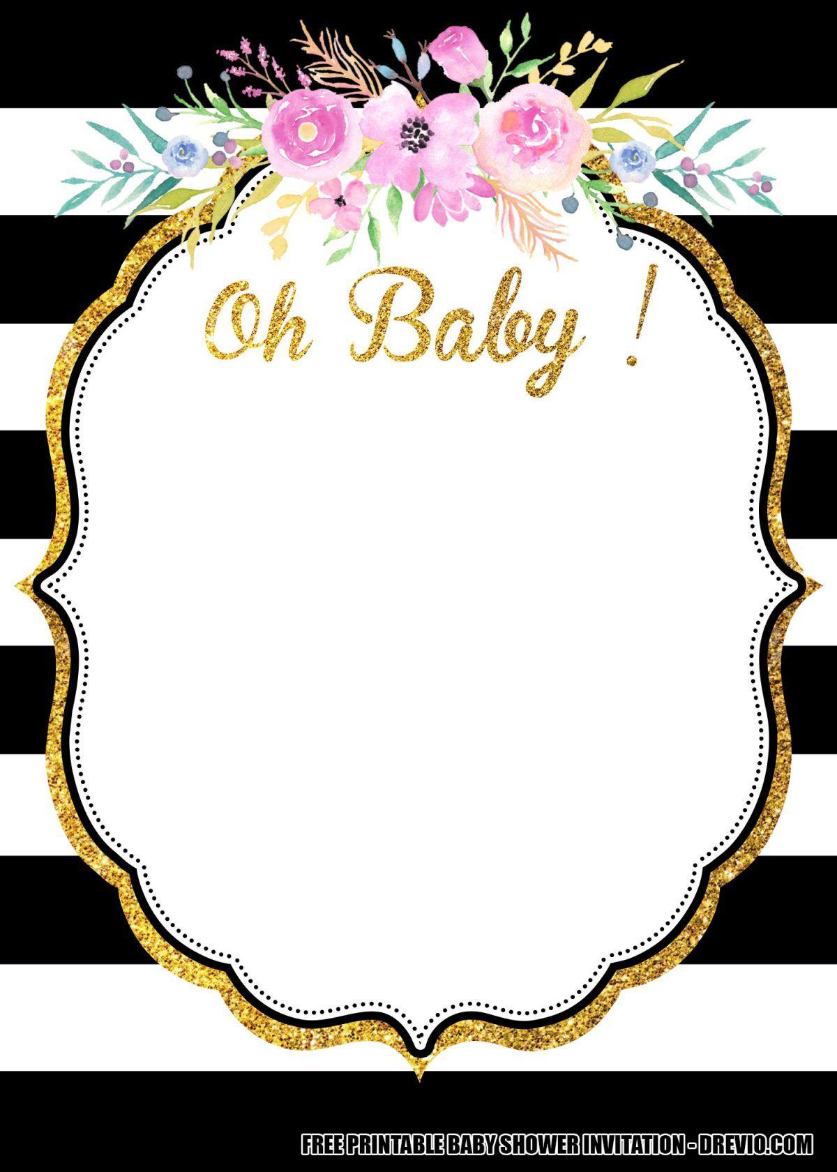 Free Flower Baby Shower Invitation Templates Downloadable Free Printab Printable Baby Shower Invitations Flower Baby Shower Invites Baby Shower Invitations