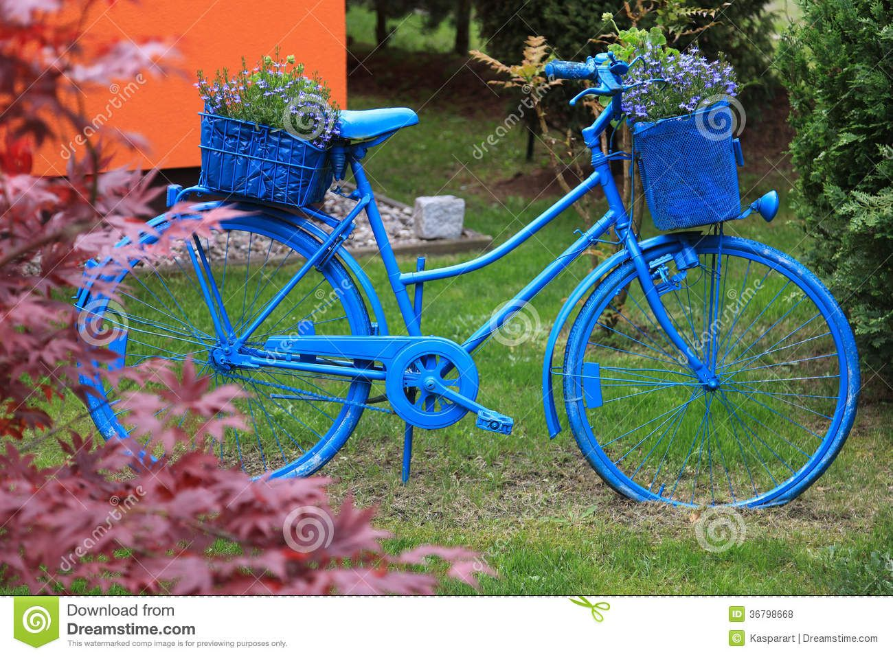 More Similar Stock Images Of Blue Bicycle Garden Decoration
