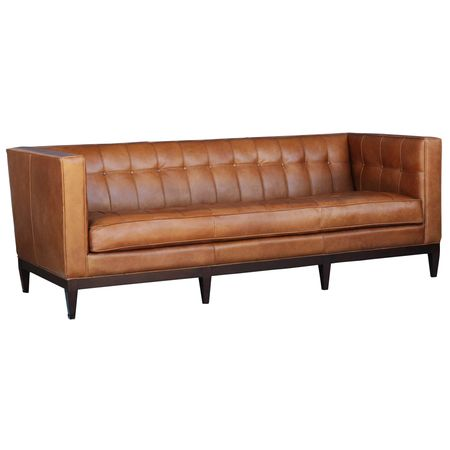 Buy Sofas Online This Vintage Look Leather Sofa Has A Retro Vintage