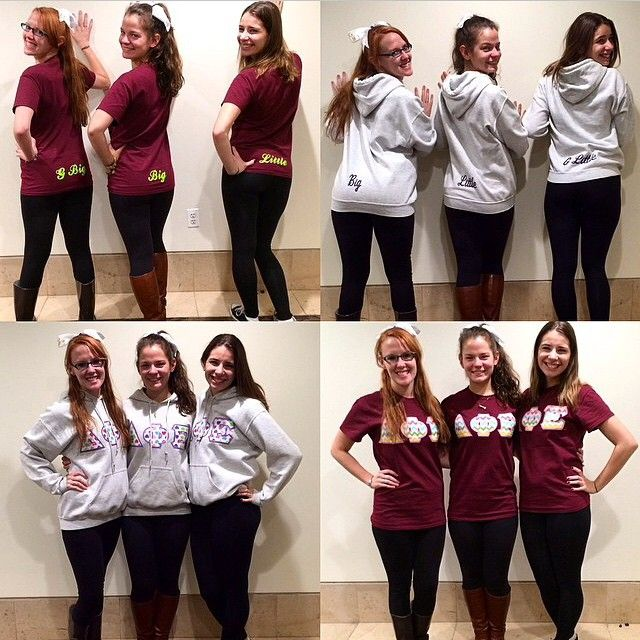 We couldn't help but share the pic @megmcmuff put up of the matching outfits she got with us. It's absolutely adorable, thank you so much for sharing! #ΔΦΕ #deltaphiepsilon #dphie emojiemojiemoji #sgfamous Instagram photo by @somethinggreek (Something Greek!) | Iconosquare