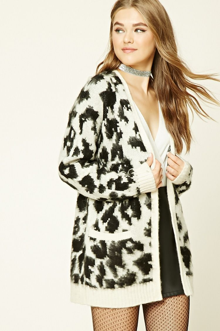Leopard Print Cardigan | Forever 21 - 2000228777 | Cocos ...
