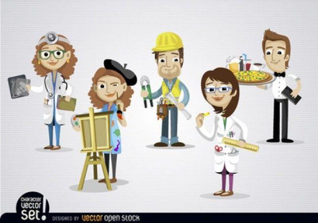 Dibujos animados personas con diferentes puestos de - Puestos de trabajo ...