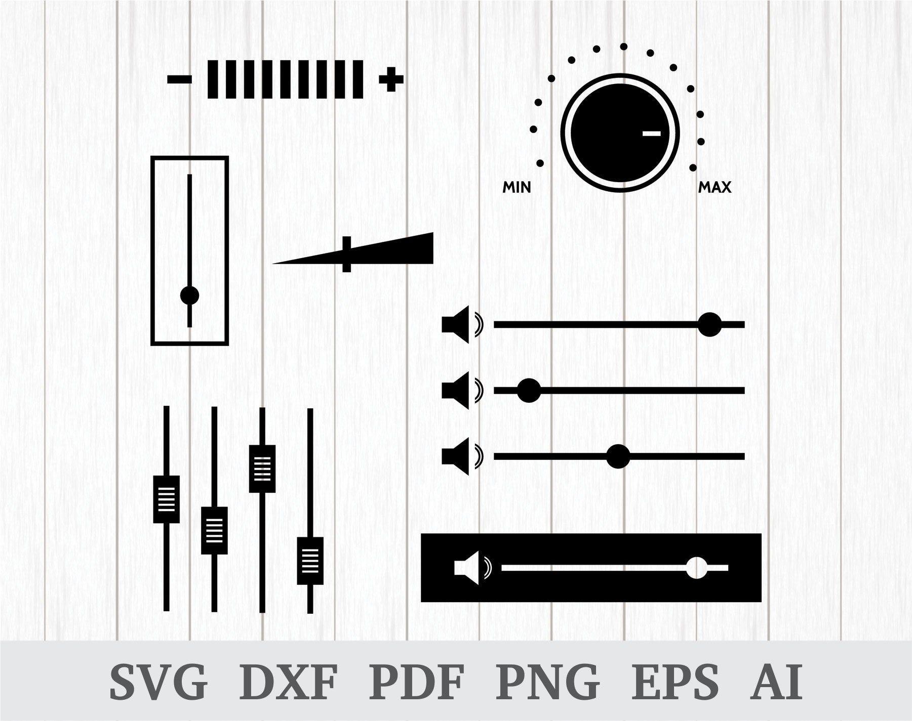 Volume svg, Volume levels svg, Volume slider svg, Audio/sound svg, volume slider