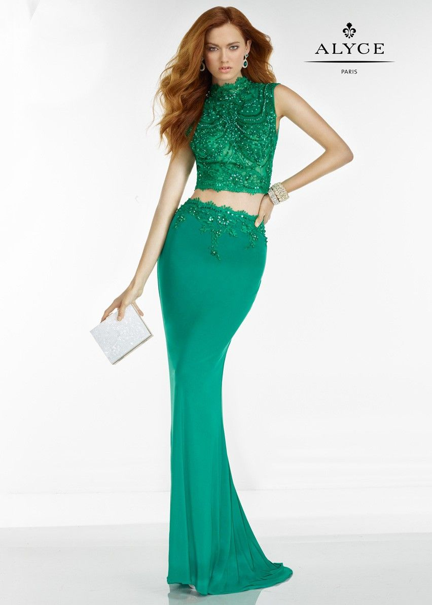 Alyce 6585 Sleeveless Sequin 2 Pc Evening Gown Alyce