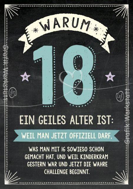 Pin Von Spacy Auf Weisheiten Wunsche Zum 18 Geburtstag 18