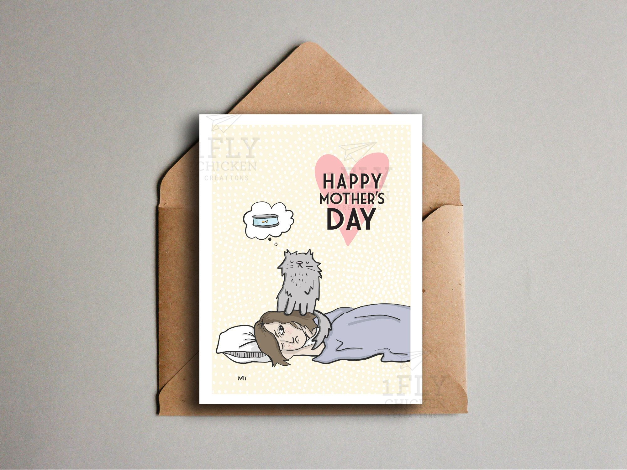 Cat mothers day card for all those cat and human moms