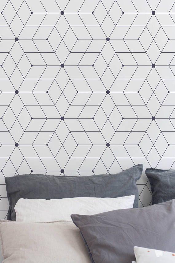 le papier peint adh sif et autocollant le guide complet adh sif pinterest papier peint. Black Bedroom Furniture Sets. Home Design Ideas