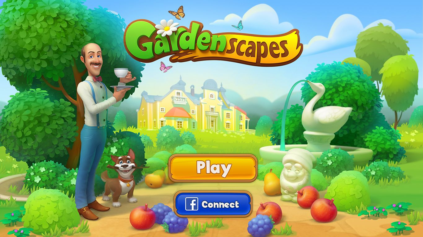 Gardenscapes PLAYRIX on Behance | Match3 Cover | Videogames