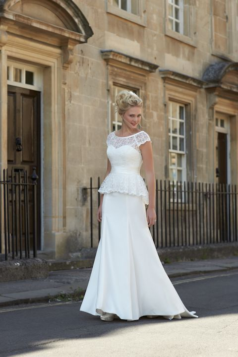 Wedding Dresses with an Illusion Neckline for 2015; So Sassi - Sian