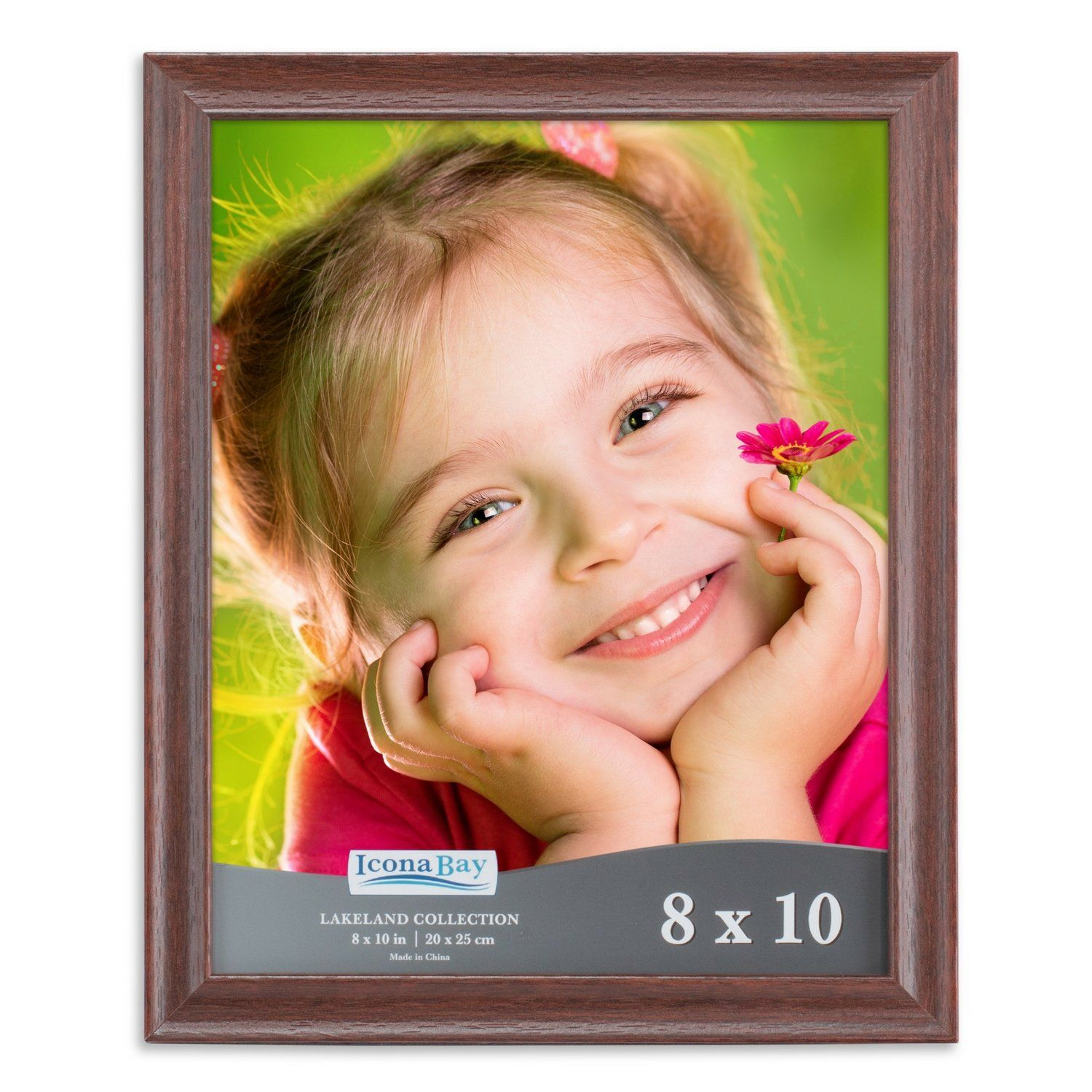 Icona Bay 8 By 10 Picture Frame 8x10 6 Pack Teak Wood Finish Wall Mount Hangers And Table Top Easel La Frame Tabletop Picture Frames Wood Photo Frame