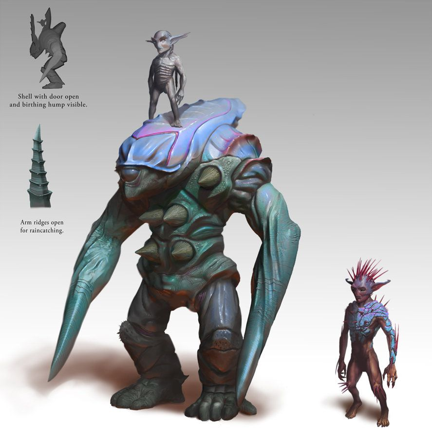 alien race finished by joeslucher on deviantart zombies