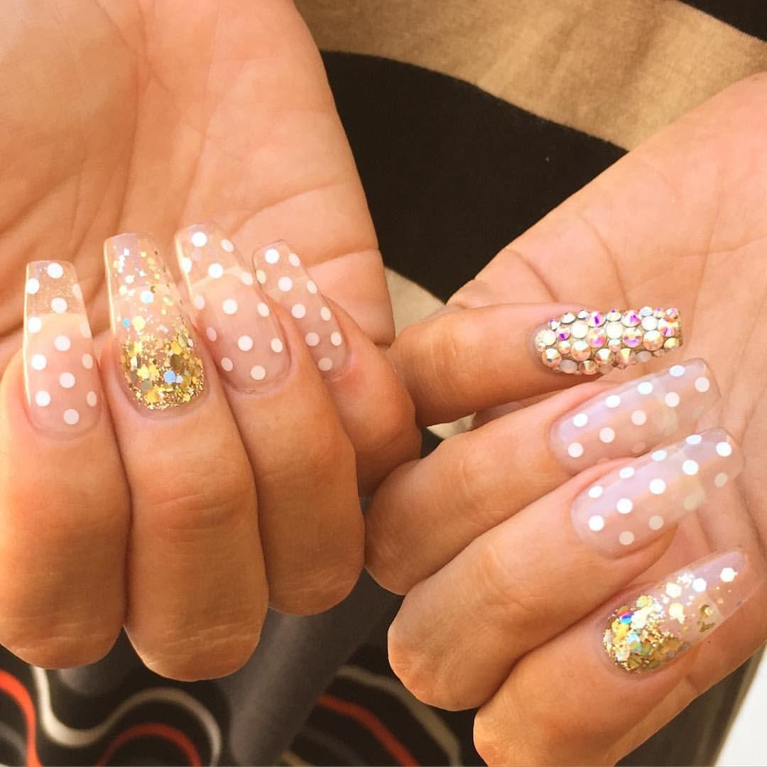 Instagram Photo By Ana Karpova Jul 26 2015 At 7 29am Utc Nail Shapes Trendy Nail Design Polka Dot Nails