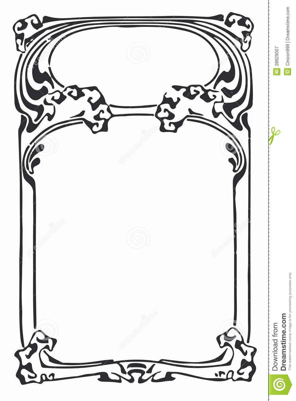 Art Nouveau Border Stock Illustrations, Cliparts And Royalty Free ...