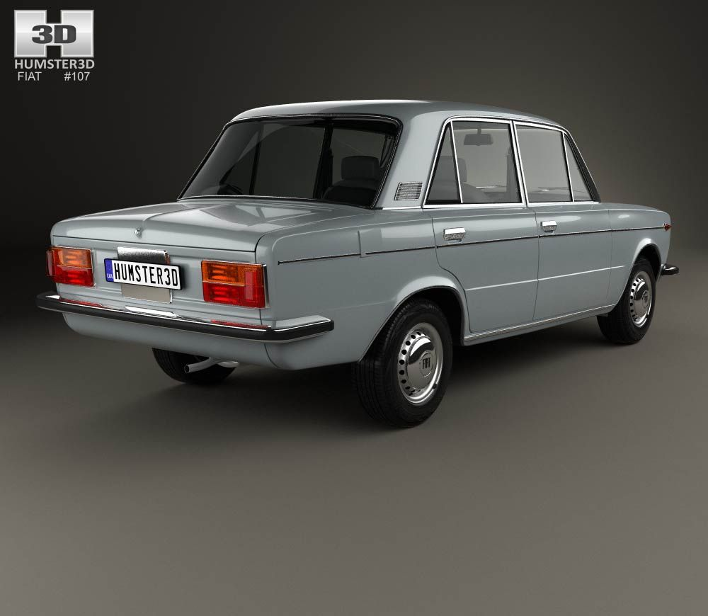 3d Model Of Fiat 125 1967 Fiat Fiat Cars Good Looking Cars