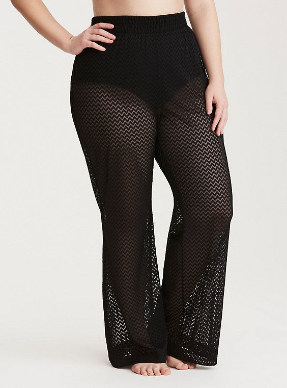 2e3ae120418af Plus Size Crochet Swim Cover Up Pants