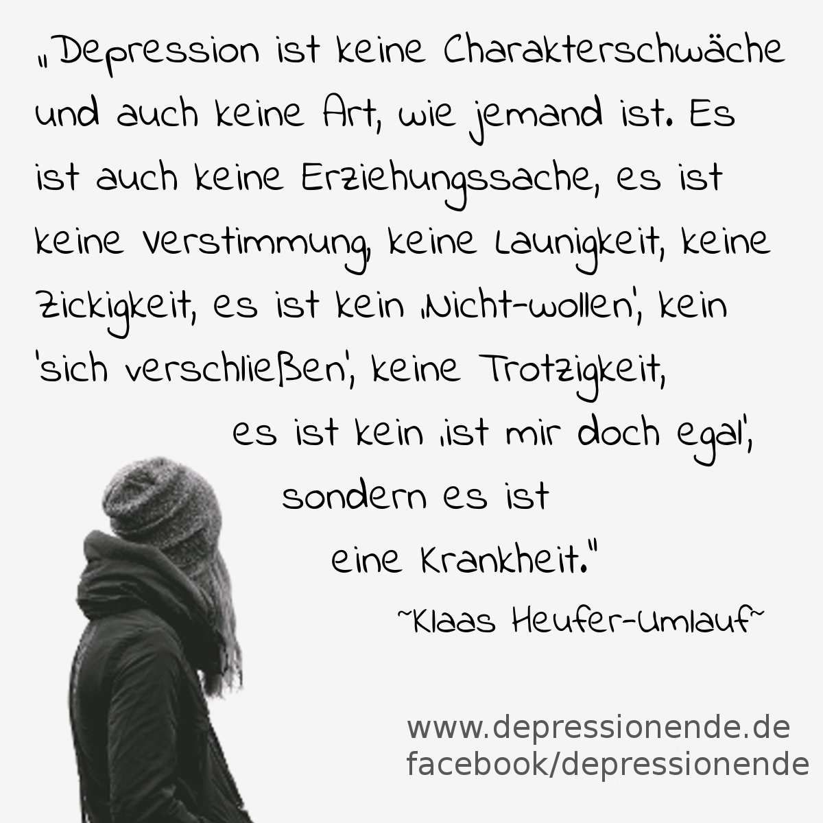 Schön Depression Ist Keine Charakterschwäche! Zitat Von Klaas Heufer Umlauf