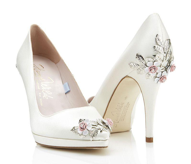 Wedding Shoes Inspiration Joanie Platform Pink Rose Harriet Wilde