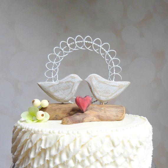 Love Bird Wedding Cake Topper, Love Bird Cake Topper, Rustic ...