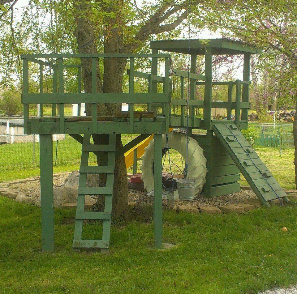 Our homemade play set. | Backyard, Backyard fun, Homemade ...