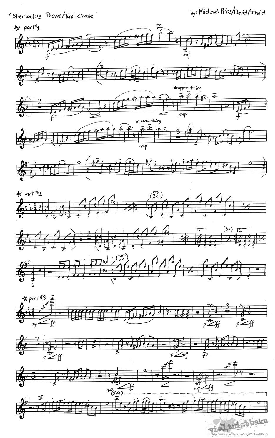 Sherlock Theme/Taxi Chase Sheet Music for violin | Music | Pinterest | A tv, Violin and Pictures