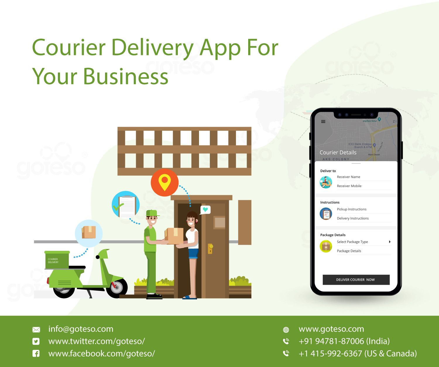 Goteso is on demand courier delivery app development company