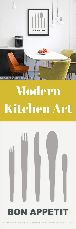 Scandinavian Kitchen Wall Art   Nordic art, Arne jacobsen and ...