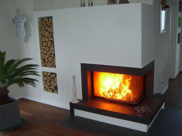 eck kamin firma brunner hochschieber der korpus wird mit speicher schamotte steinen aufgestellt. Black Bedroom Furniture Sets. Home Design Ideas