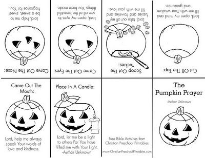 The Pumpkin Prayer Colouring Page And Then Folds Into A Book - Pumpkin-prayer-coloring-page